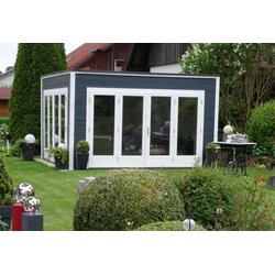 Design Gartenhaus Cubus-Wave, mit Imprägnierung