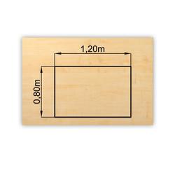 bümö Schreibtisch OM-PL12, Schreibtischplatte DIY Tischplatte - Rechteck: 120x80 cm - Dekor: Ahorn natur