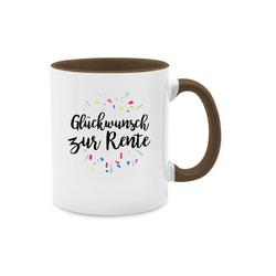 Shirtracer Tasse Glückwunsch zur Rente - Tasse Berufe - Tasse zweifarbig - Tassen, glückwunsch tasse