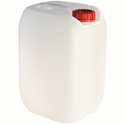 Camping-Wasserkanister, weiß, aus Kunststoff, leerer Kanister, 25 Liter - Kanister