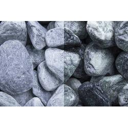 Marmor Kristall Grün getrommelt, 20-50, 30 kg Big Bag