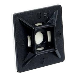 Klebesockel 28 x 28 mm für Kabelbinder bis 4,8 mm - Farbe schwarz - Beutel 100 Stück