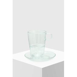 Ronnefeldt Glastasse mit Glas-Untertasse