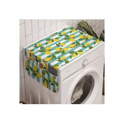 Abakuhaus Badorganizer Anti-Rutsch-Stoffabdeckung für Waschmaschine und Trockner, Zitronen Zitronenblüten Blätter Kunst