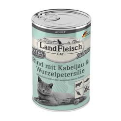 LandFleisch Cat Adult Pastete Rind, Kabeljau, Wurzelpetersilie 400 g (Menge: 6 je Bestelleinheit)