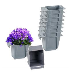 BigDean Blumenkasten Pflanzkasten Palette Mini Kunststoff Paletten Pflanzkübel Palettenkasten Palettenpflanzkasten