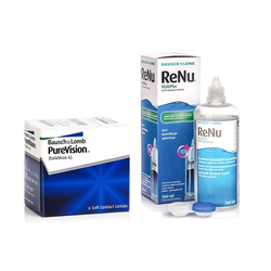 PureVision, 6er Pack + ReNu MultiPlus 360 ml Sparset