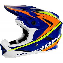 Jopa Flash Fahrradhelm - Blau/Orange/Gelb - L