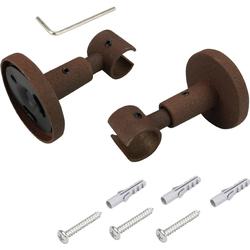 Deckenträger, Liedeco, Gardinenstangen, (1-St), für Gardinenstangen Ø 16 mm braun