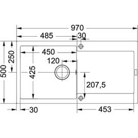 Franke Maris MRG 611-100 graphit + Drehknopfventil