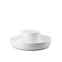 Thomas Porzellan Obstschale ONO Weiß/Metall Food Presenter, Porzellan, (1-tlg)