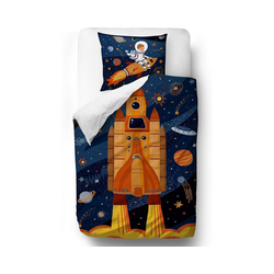 Bettwäsche Kinderbettwäsche aus Satin, Bären, 135 x 200 + 80, Mr. Little Fox blau