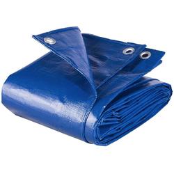 Woltu Pool-Abdeckplane GZ1211bl, PE Abdeckplane mit Ösen Gartenmöbel 280g/m², blau