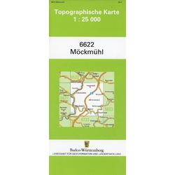 Topographische Karte Baden-Württemberg Möckmühl