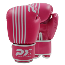 PX Boxhandschuhe SPARRING, PU pink-weiß (Größe: 6 Oz)