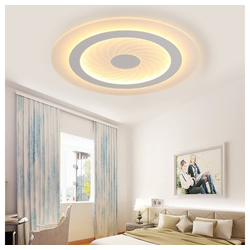 Natsen Deckenleuchte, 36W LED Deckenlampe ultra-dünn warmweiß nicht dimmbar rund ultraflach Ø 43 cm x 43 cm x 8 cm