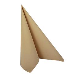 """Papstar """"ROYAL Collection"""" Servietten, 1/4-Falz, 33 x 33 cm, Hochwertige Premium-Servietten in Stoffoptik, 1 Karton = 5 Packungen á 50 Stück, sand"""