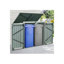 KONIFERA Mülltonnenbox Tobi 2, für 2x240 l, BxTxH: 158x134x101 cm