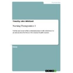 Nursing Therapeutics 1 als Buch von Timothy John Whittard