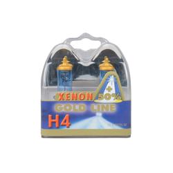UNITEC H4 Xenon Gold Halogenlampe, 2 Stück, Tageslichtweiß