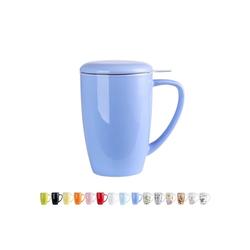 LOVECASA Tasse (1-tlg), Porzellan, Teebecher Kaffeebecher aus Porzellan blau