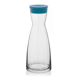 1000ml Glaskaraffe blau