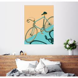 Posterlounge Wandbild, Isometrisches Fahrrad 70 cm x 90 cm