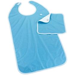 Speiseschürze mit Serviette blau