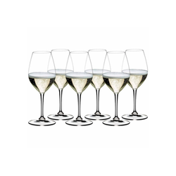 RIEDEL Glas Champagnerglas Vinum Champagner Weinglas 6er Set - 265 Jahre, Glas