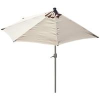 MCW Balkonschirm Lorca-300, LxB: 285x135 cm, Optional mit Schirmständer, witterungsfest, Platzsparend zusammenfaltbar beige