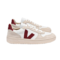 Veja - V10 B-Mesh White Natural Marsala - Sneakers - Größe: 37