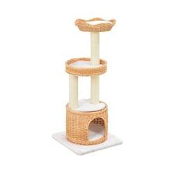 Helloshop26 - Arbre à chat griffoir grattoir niche jouet animaux peluché en sisal naturel bois de
