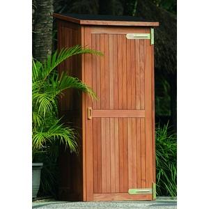 Gartenschrank Santiago 80x65x173/185 cm Gerätehaus Geräteschuppen Hartholz Holz