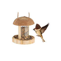 relaxdays Vogelhaus Vogelfutterspender zum Aufhängen