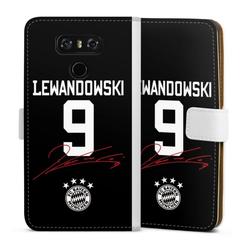 DeinDesign Handyhülle Lewandowski 9 LG G6, Hülle FC Bayern München FCB Lewandowski weiß