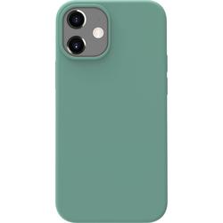 Azuri Backcover iPhone 12 Mini Silikon-Backcover in Grün