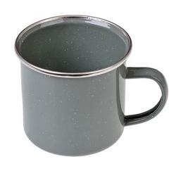 GRÄWE Tasse Gräwe Emaille-Tasse, 300 ml grau