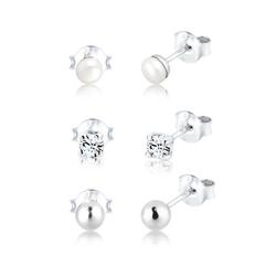 Elli Ohrring-Set Set Kugel Perle Kristalle 925 Silber