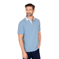 Trigema Business-Poloshirt blau XL