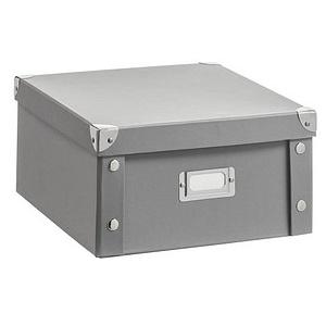 Zeller Aufbewahrungsbox 9,6 l grau 26,0 x 31,0 x 14,0 cm