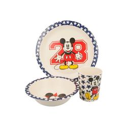 Disney Mickey Mouse Kindergeschirr-Set Kinder Geschirr-Set Teller Schale Becher Geschenk-Set (3-tlg), BPA-Frei
