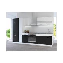 Küchen Preisbombe - Küche CORA I 310 Küchenzeile Küchenblock Einbauküche Weiss Schwarz