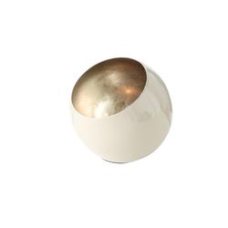Boltze Windlicht Bonelli in creme/mint, 14 cm