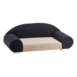 Silvio Design XL Hundesofa Amie, L53 x B122 x H45 cm, schwarz/weiß