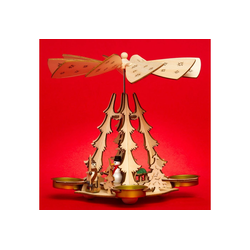 SIKORA Weihnachtspyramide SIKORA P29 Holz Teelicht Weihnachtspyramide für 4 Teelichte H: 20 cm