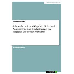 Schematherapie und Cognitive Behavioral Analysis System of Psychotherapy. Ein Vergleich der Therapieverfahren: eBook von Juliet Hillerns