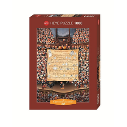 HEYE Puzzle HEYE 29564 Loup Score Cartoon Classics 1000 Teile Puzzle, 1000 Puzzleteile braun