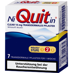 NIQUITIN Clear 14 mg transdermale Pflaster 7 St