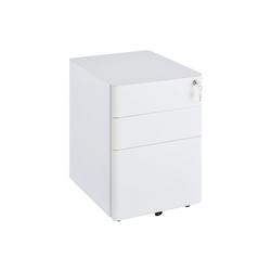 Vinsetto Rollcontainer Aktenschrank mit Schließfach weiß