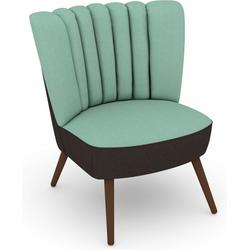 Max Winzer® Sessel Aspen, im Retrolook, zum Selbstgestalten blau